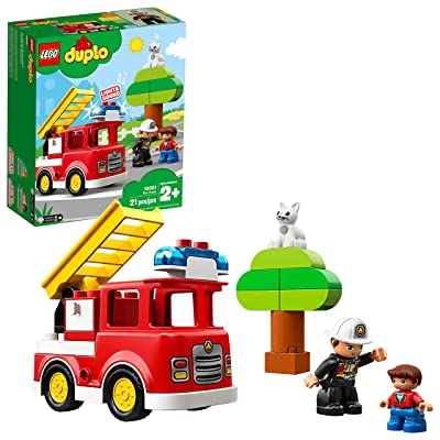 LEGO DUPLO Town Fire Truck 10901 Building Blocks (21 Pieces): Toys & Games