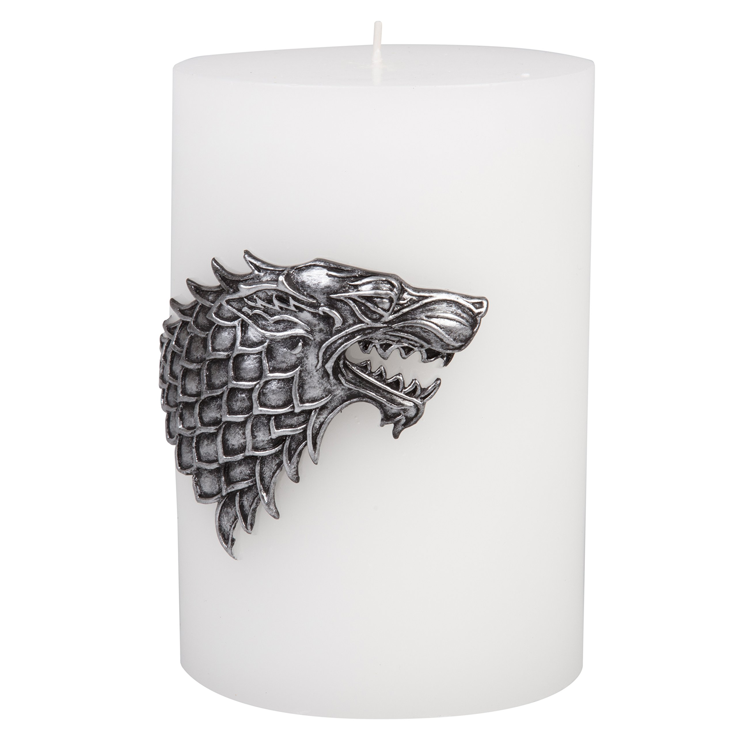 Game of Thrones Candle - Large House Stark Insignia Sculpted Pillar Candle - Perfect for GoT Fans - Unscented - 8''h by Game of Thrones (Image #4)