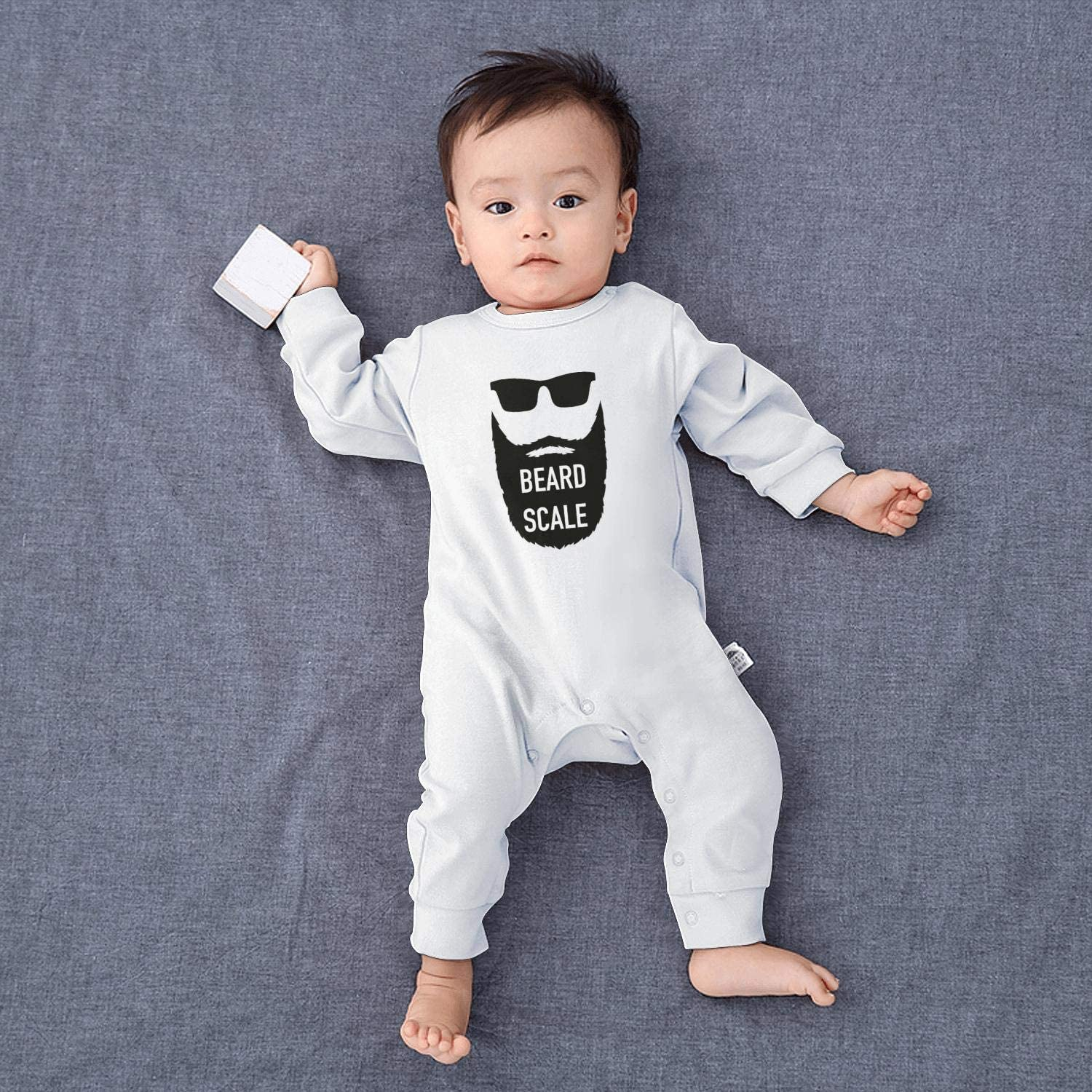 GFJHBVNBVC Bear Go Surfing Awesome Baby Crawling Suit Lone-Sleeved Romper Bodysuit