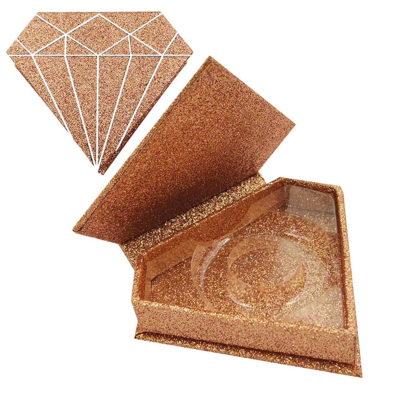 10/20/50pcs wholesale false eyelashes packaging box fake 3d mink lashes boxes faux cils strip diamond magnetic case empty,Only Box 50pcs,F by dream-higher Fake Eyelashes