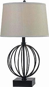 Kenroy Home 32102ORB Globus Table Lamps, Medium, Oil Rubbed Bronze Finish