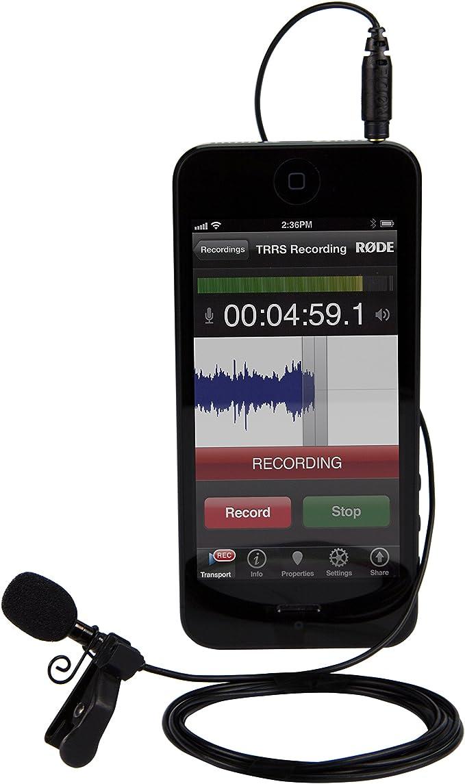 Rode smartLav - Micrófono para iPhone/Android (con Clip), Negro ...