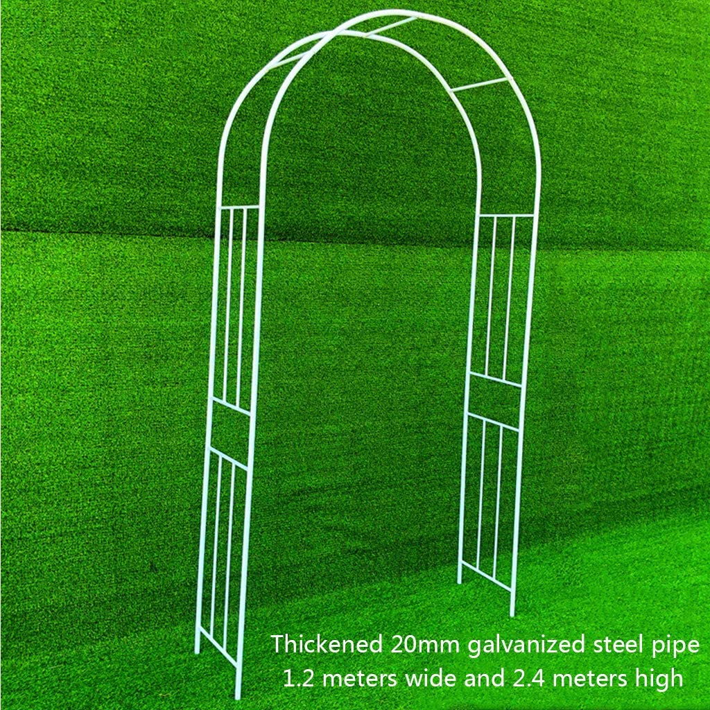 HYZDY Thicken Metal Garden Arch, Rose Arch, Metal Pergola Arbor, Decorative Steel Garden Arch Arbor Trellis for Climbing Plants and Wire Lattice