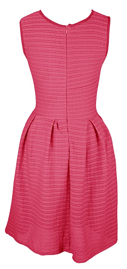d33d7b2d9619b Peach Couture Womens Solid Color Chic Sleeveless Ribbed Skater Dress at  Amazon Women's Clothing store: