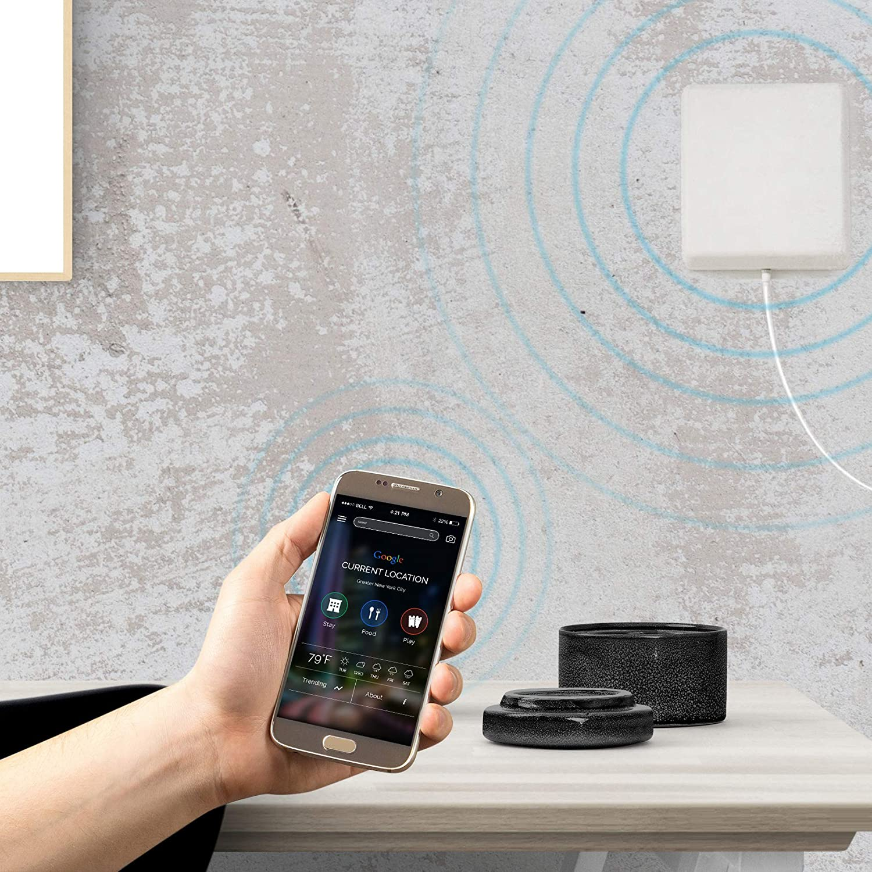 ORPEY Antena 4G Interior gsm 3G 698-2700MHz de Panel Celular Interior para Repetidor de señal Movil Amplificador 4G LTE con Conector Macho SMA Blanco ...