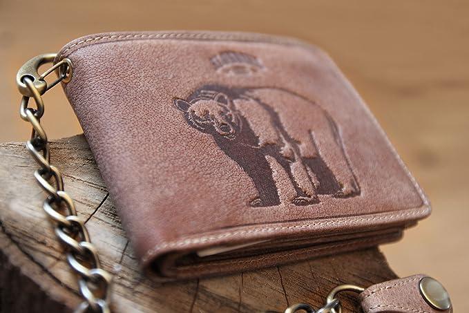 c53555d1f844d Klondike 1896 Große Echtleder Geldbörse  Harry Bear  im Querformat ...