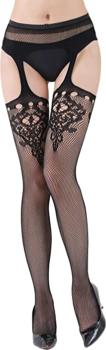 3d788e7663432 Women's Black Fishnet Stockings Pantyhose Sexy Mesh Hollow Out Fishnet  Tights Hosiery