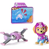 Paw Patrol Sea Patrol – Light Up Skye Figure with Pup Pack and Mission Card