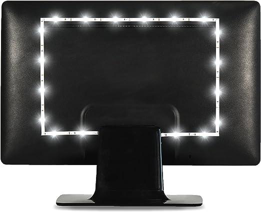 Luz de Fondo Luminoodle para TV - 1 Metro - Tira de luz LED Blanca ...