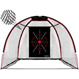 Champkey TEPRO 10' x 7' Golf Hitting Net | 5 Ply-Knotless Netting with Impact Target Golf Practice Net Ideal for Indoor…