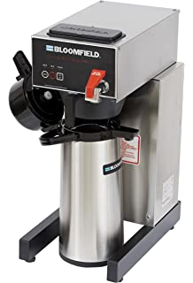 14 Width 74-Ounce Capacity 20 Length Brew-Through Stem 17 Height Glass Liner Bloomfield 7760-ALM Airpot Lever Action