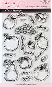 Rubber Stampede stamps or cherries used rubber stamp plums peaches YOUR CHOICE fruit stamp rubber stamp