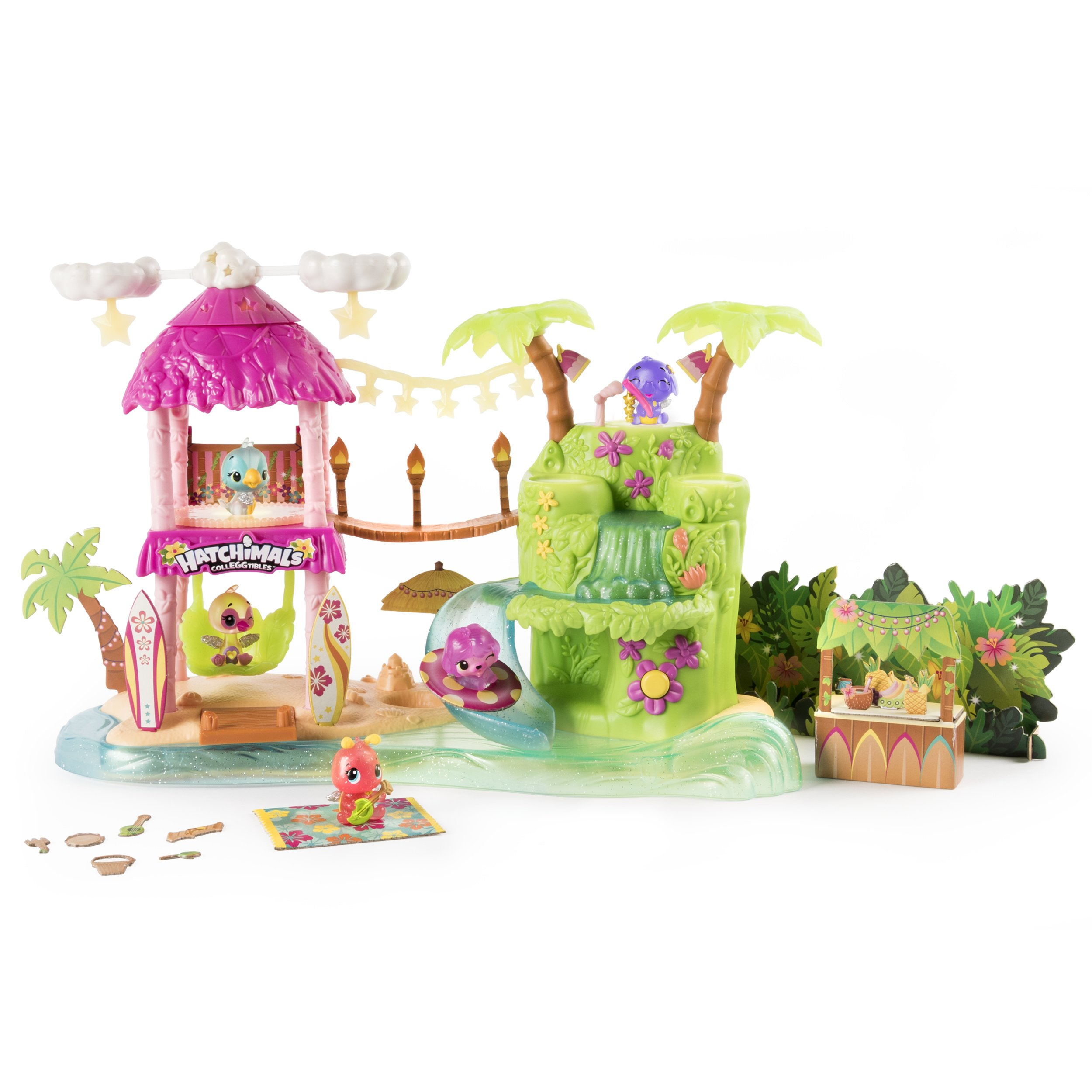 Hatchimals CollEGGtibles Tropical Party Playset with Lights, Sounds and Exclusive Season 4 CollEGGtibles for Ages 5 and Up