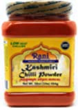 Rani Kashmiri Chilli Powder (Deggi Mirch, Low Heat) Ground Indian Spice 16oz (454g) PET Jar ~ All Natural, Salt-Free…
