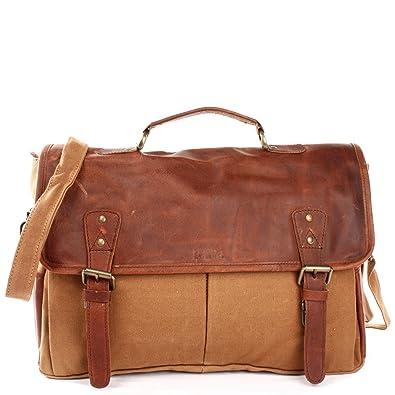 cf3441bf28383 LECONI Collegetasche großes Messenger Bag Tasche Arbeitstasche für Herren    Damen DIN A4 Schultasche Umhängetasche aus