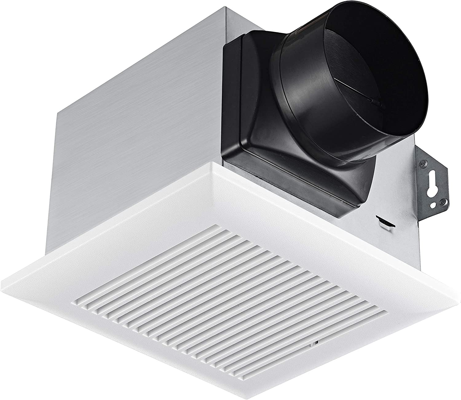 Tech Drive Very-Quiet 80 CFM, 1.5 Sone No Attic access Needed Installation Bathroom Ventilation and Exhaust Fan
