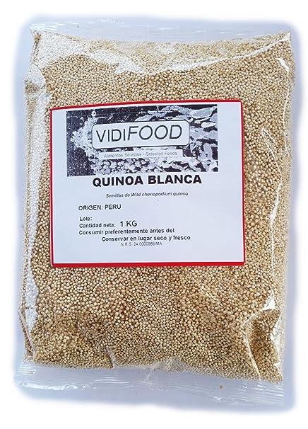 Quinoa Blanca - 1kg - Fuente Rica de Aminoácidos, Vitaminas y ...