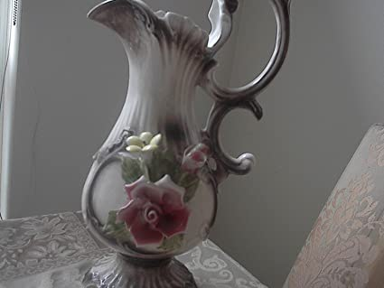 Amazon Vintage Brown Capodimonte With Floral Pattern Water
