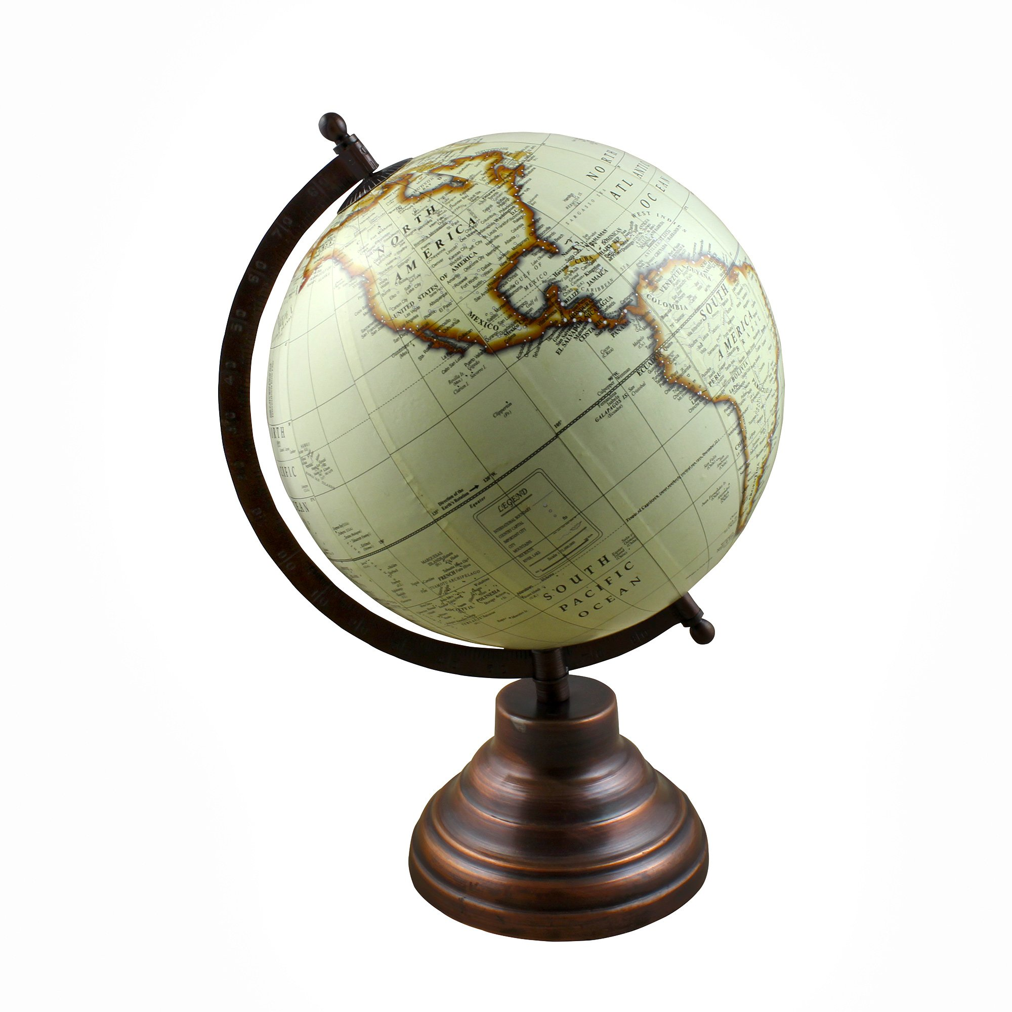 Desktop World Globe Earth Map Decorative with Stand - Perfect Gift for Home Office Desk Decoration - Stock Clearance Sale!!
