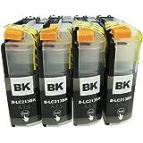 LC213-BK/ブラック 4本セット [Brother]ブラザー 新互換インクカートリッジLED・残量表示付き (最新型ICチップ付き)  【A.I.S製品】