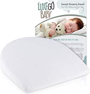 LuxeGoBaby - Cuña universal para moisés de bebé Reflux | Colchoneta para dormir para una noche de descanso | Algodón orgánico hecho a mano con forro impermeable | Almohada de cuña para