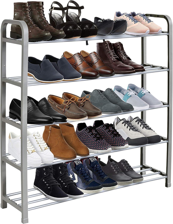 KEPLIN 5 Tier Shoe Rack Organiser, Quick Assembly No Tools...