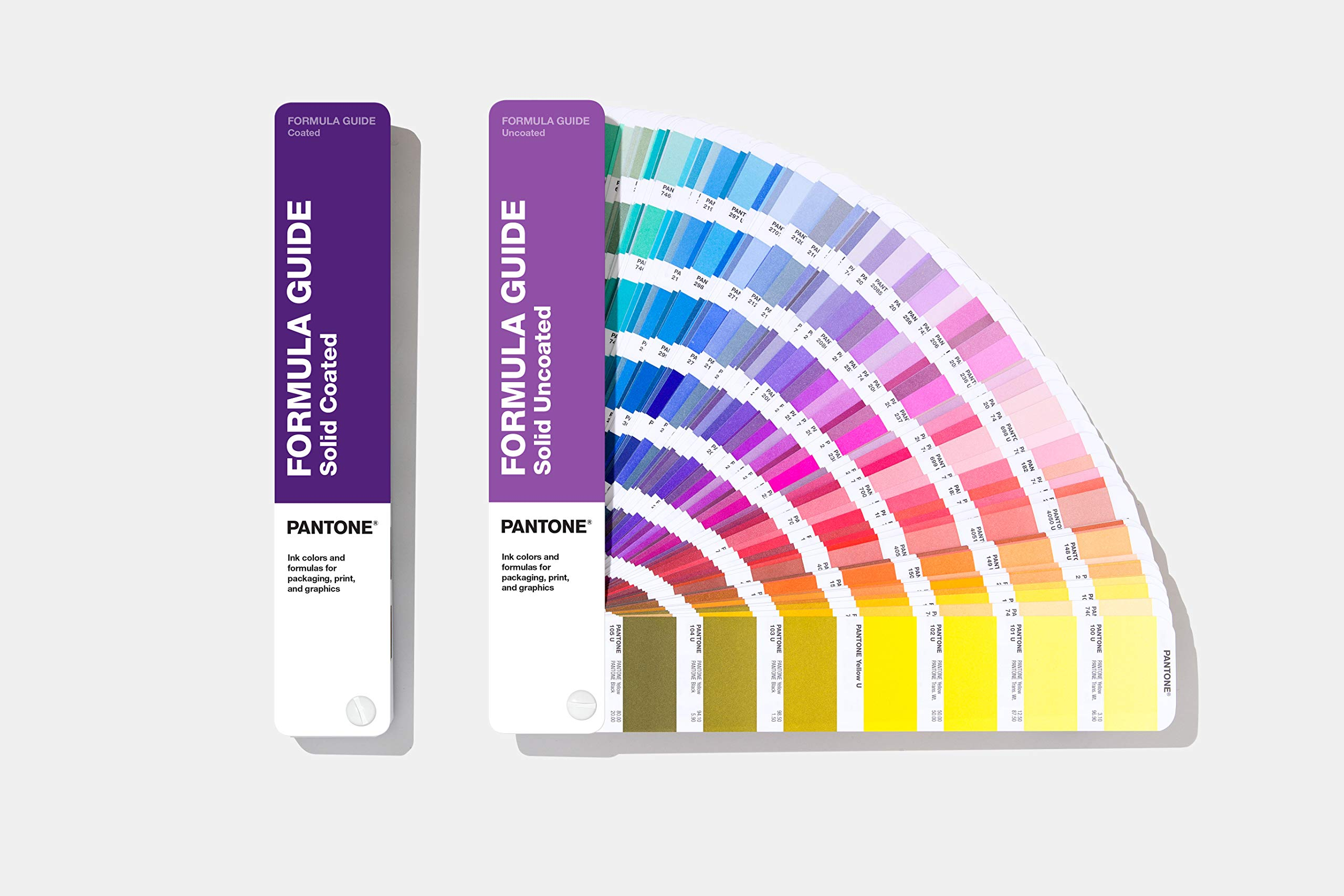 Pantone Formula Guide Set and Color Book, GP1601A, Latest Edition, 294 New Colors, Coated and Uncoated - Color Swatch Book with 2,161 Spot Colors