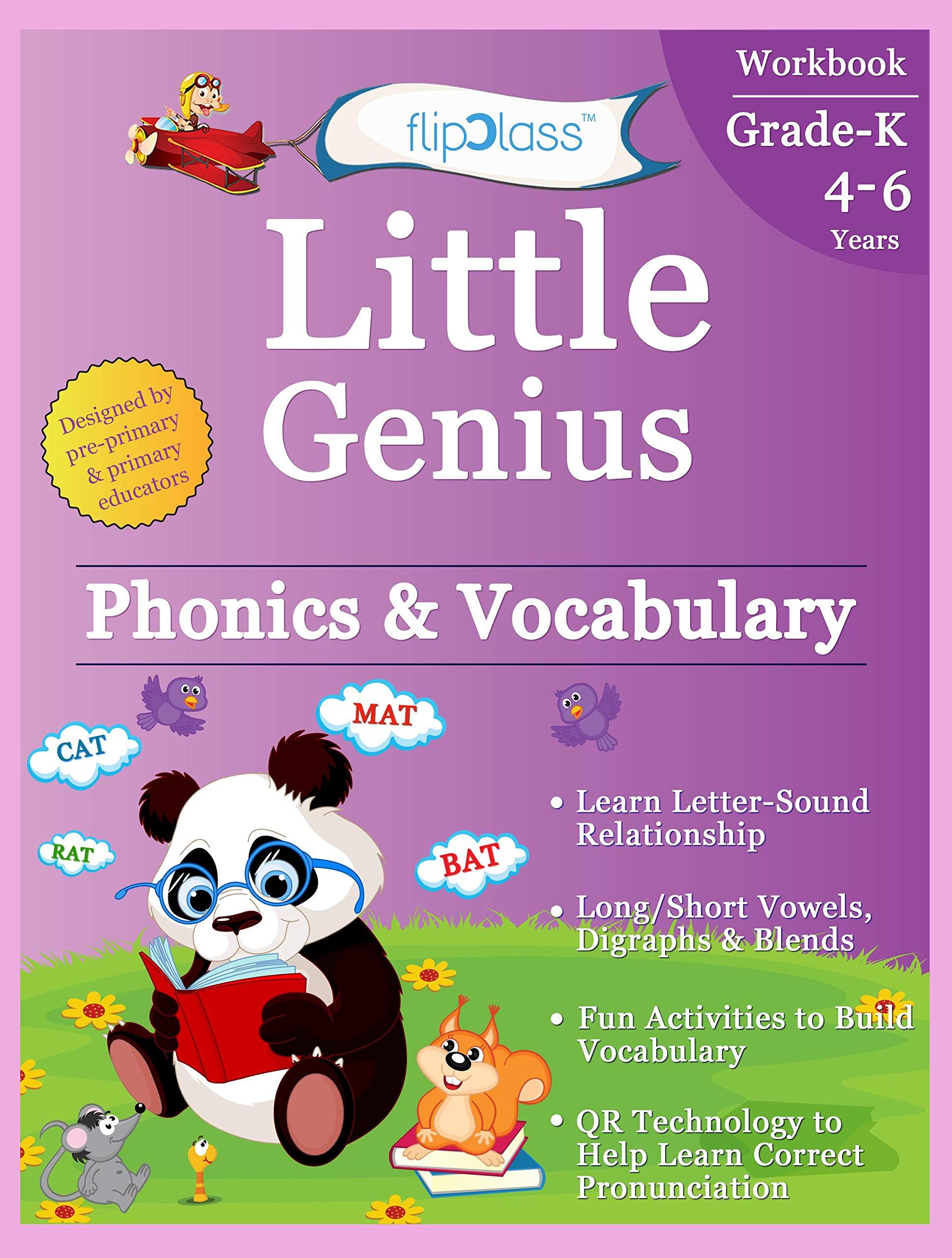 Buy Phonics & Vocabulary II: Kindergarten Workbook (Little ...