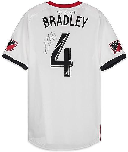 brand new 24eab c308b Michael Bradley Toronto FC Autographed Match-Used White #4 ...