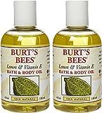 Burt's Bees Lemon and Vitamin E Body & Bath Oil - 4 oz - 2 pk