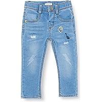 IKKS Pantalon Jean Denim Patch Jeans, Azul (Stone Blue 85), 6-9 Meses para Bebés