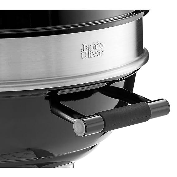 Barbacoa All Rounder Jamie Oliver - Barbacoa de carbón - Rejillas de ventilación para un control perfecto del calor - Tapadera con termómetro: Amazon.es: ...