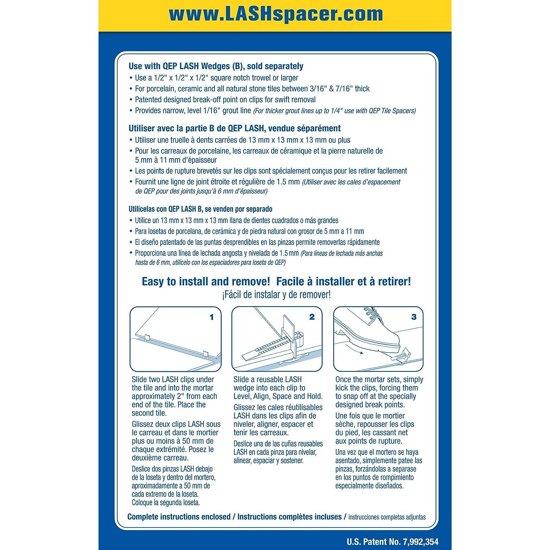 QEP FLAT LASH TILE LEVELING SYSTEM 1000 CLIPS PER BOX