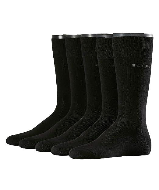Esprit Uni - Calcetines Hombre, pack de 5 unidades, color negro ...