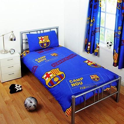 Barcelona CF Funda N/órdica Reversible 140 x 200 cm para Cama Infantil de 90 Funda Almohada 70 x 80 cm fcb6001
