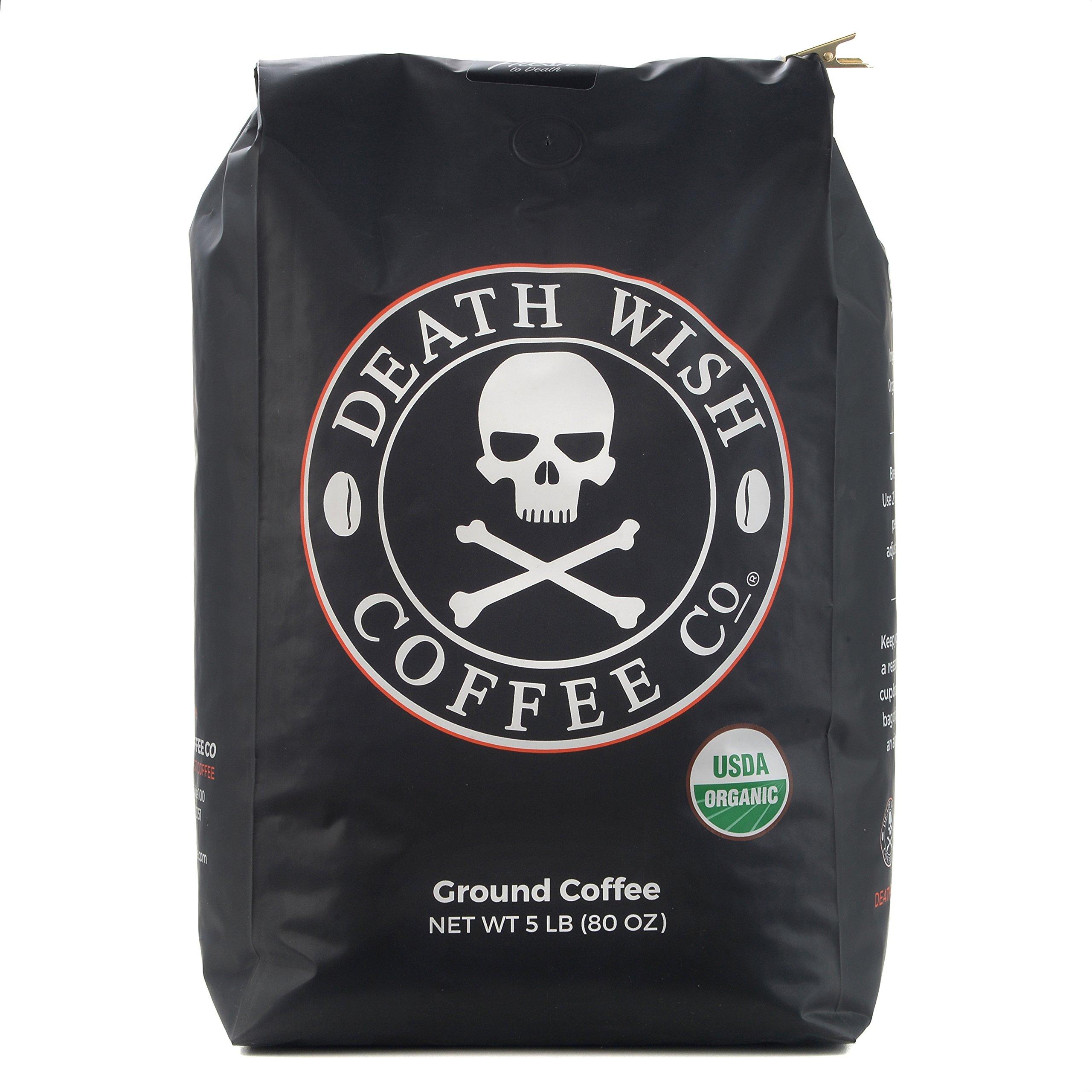 Death Wish Dark Roast Ground Coffee - 5 Pound
