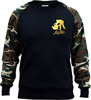Interstate Apparel Inc Mens Gold Foil Judo Emblem Tee White Trim Black Tank Top Black