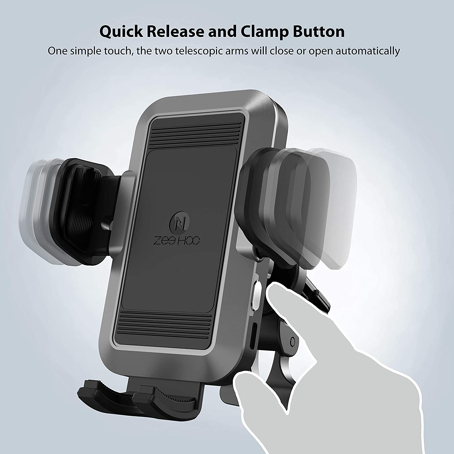 Battery Powered ZeeHoo Automatic Car Phone Mount,Electric Powered Auto Clamping Air Vent Car Phone Holder,Compatible iPhone 11//11 Pro Max//X//XS Max//XR//8//7//6,Galaxy S10//S10+//S9//S9+//S8,Google Nexus,LG