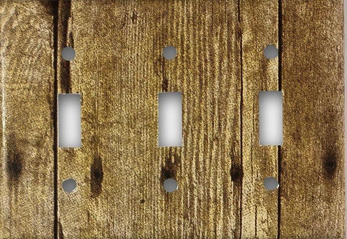 Amazon barn wood design triple toggle light switch cover wall barn wood design triple toggle light switch cover wall plate aloadofball Choice Image