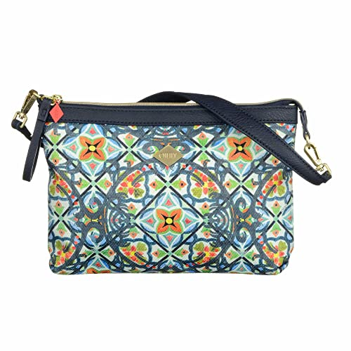 Oilily Painted Tiles Flat Shoulder Bag Ensign Blue g2fg1aerBH