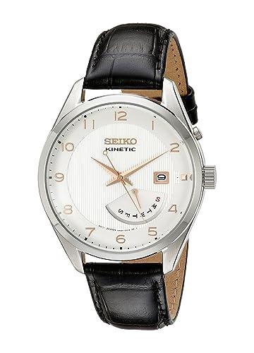 Seiko Watches SRN049 - Reloj de Pulsera Hombre, Color Negro: Amazon.es: Relojes