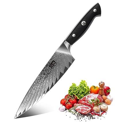 Compra SHAN ZU Cuchillo de Cocina Damasco 20m, Cuchillo Chef ...