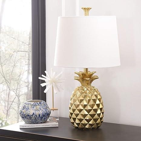 Gold Pineapple Table Lamp Tropic Light Modern White Decor ...