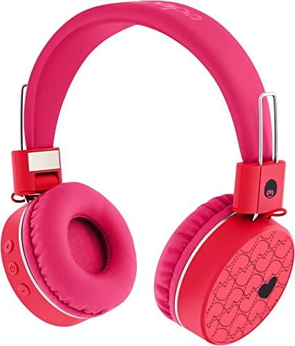 Rockpapa K8 Foldable Childrens Kids Wireless Headphones, Bluetooth On Ear Headsets with MIC and Remote Control, Hands-Free Call, Including Wired Mode Pink