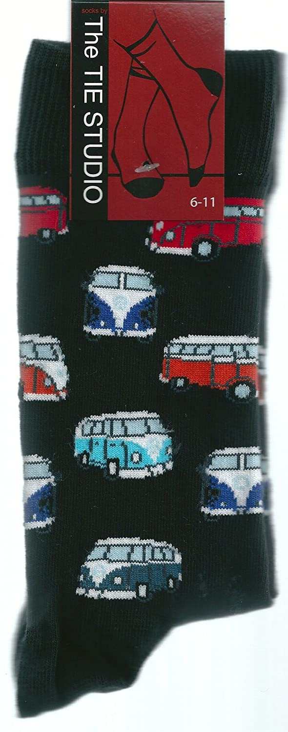 VW Camper Vans Unisex Socks Adult Size 6-11 at Amazon Mens Clothing store: