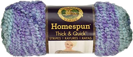 Lion Brand 792-214 Homespun Thick /& Quick Yarn-Seaglass Stripes 3Pk