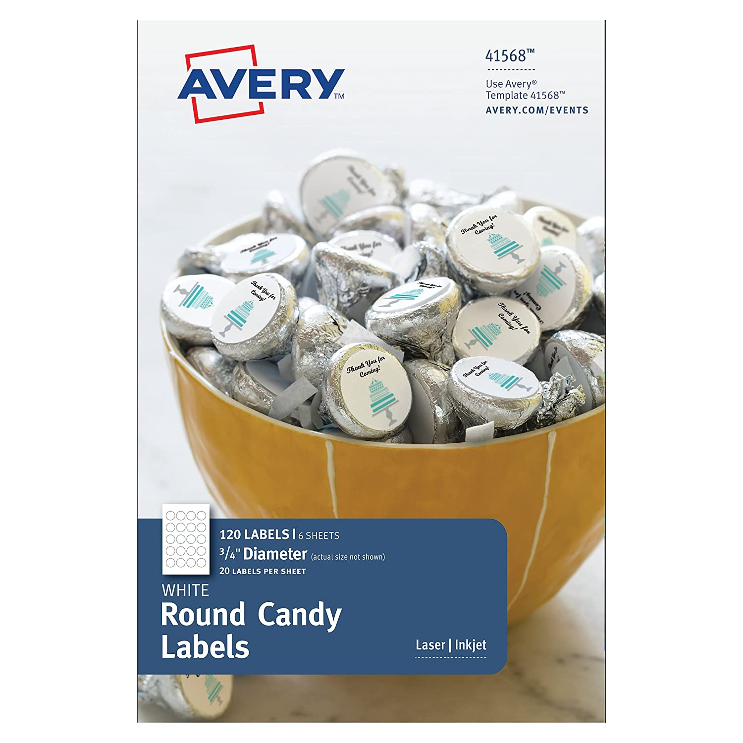 amazon com avery candy chocolate drop labels fits hershey s