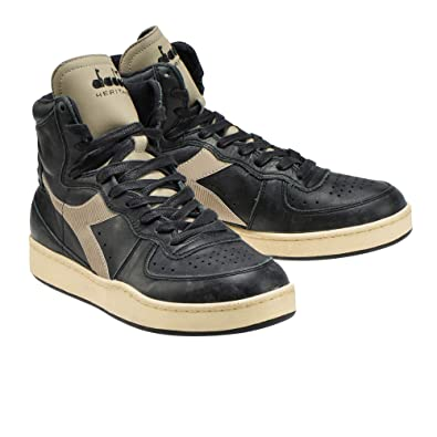 Sneaker DIADORA MI BASKET USED C5131 BlackGrey Cobblestone