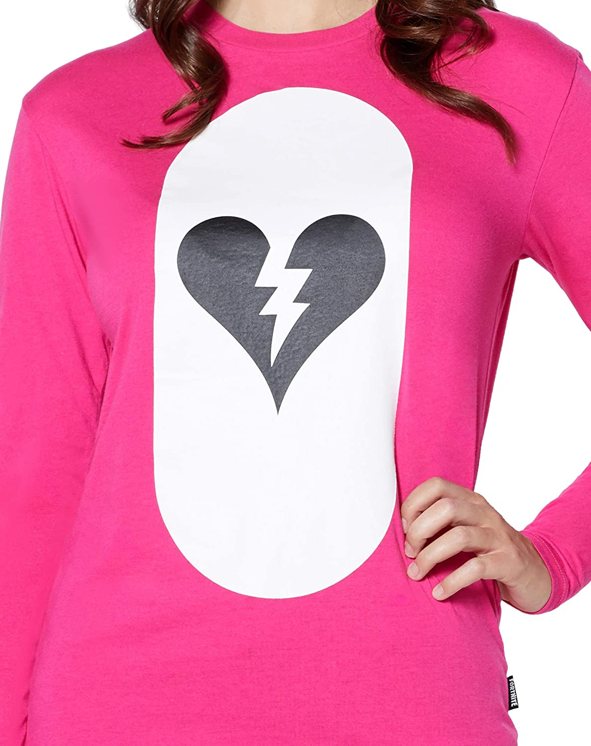 amazon com spirit halloween adult fortnite cuddle team leader costume t shirt clothing - fortnite broken heart