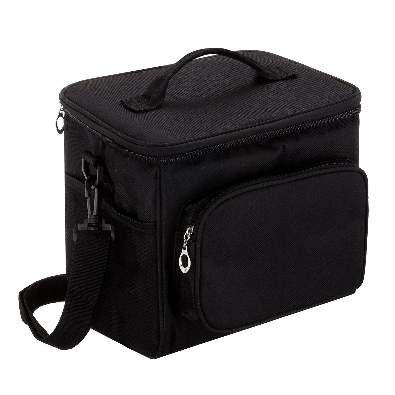 Ok-Dragon Borsa da pranzo per adulti Borsa termica grande per laptop e borsa termica per uomini e donne Sacchetto del pranzo a doppio ponte con borsa a tracolla regolabile (Blu)